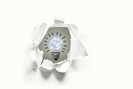 offend: Five bulbs which one is in the process of function against a paper which is offending