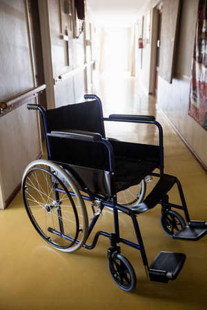 sheltered accommodation: Picture of a wheelchair in a retirement home LANG_EVOIMAGES
