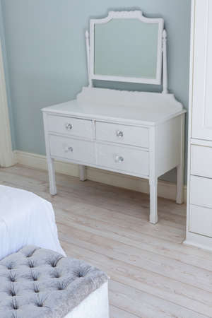 dressing table: Classic dressing table in bedroom at home