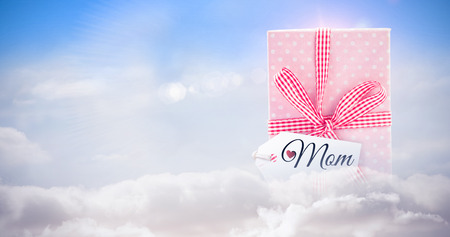 vulnerable: Mothers day greeting against blue sky with white clouds