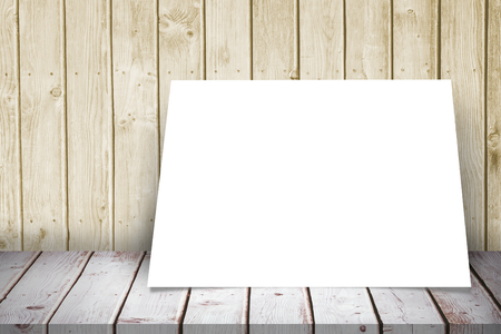 applauding: White card against a wall Stock Photo