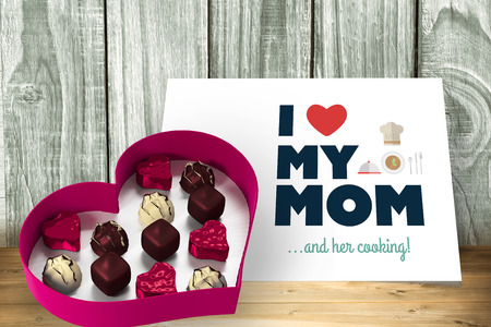 candy box: Heart shaped box of candy against white card