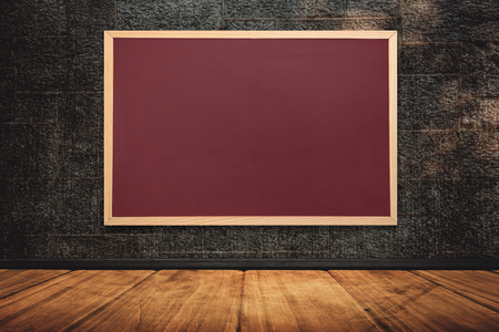acclamation: Chalkboard    against room background Stock Photo