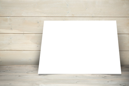 acclamation: White card against a wall Stock Photo