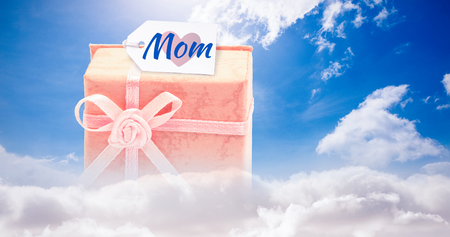 vulnerable: Mothers day greeting against blue sky Stock Photo