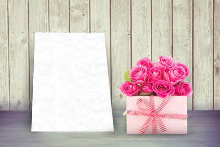against white: Gifts in a white background against white card