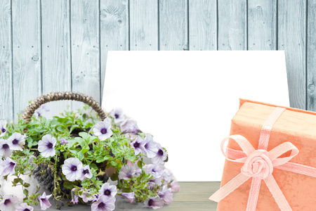 no people: Flowers against white card