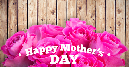 acclamation: mothers day greeting against wooden planks