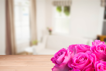 chat room: Pink flowers against sitting room