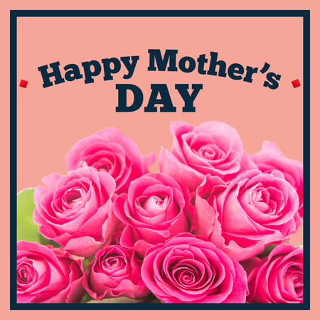 simple purity flowers: Mothers day greeting against salmon background Stock Photo