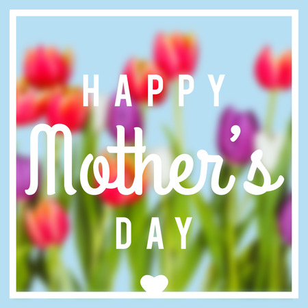 friend chart: Mothers day greeting against blue background Stock Photo
