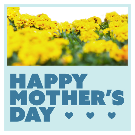 friends having fun: Mothers day greeting against white background with vignette