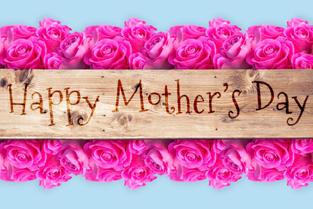 applauding: A sentence against wooden planks for mothers day