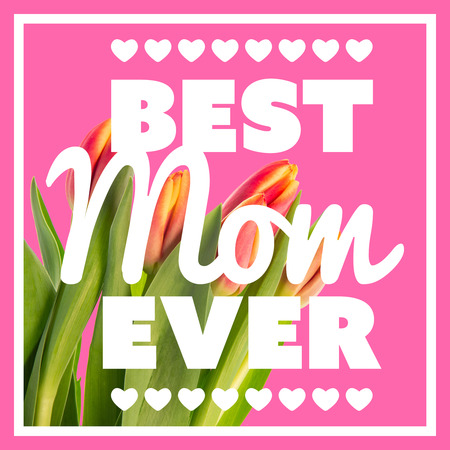 ever: best mom ever against pink background