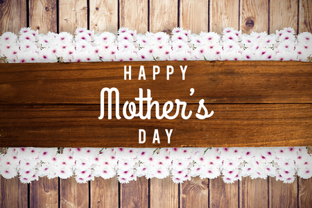 floorboard: mothers day greeting written on a plank of wooden planks