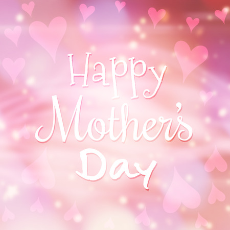 glimmering: Happy mothers day message on pale background