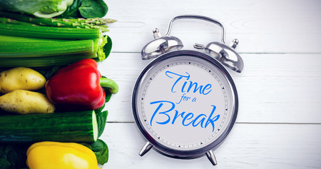 alarm clock: alarm clock against white background with vignette