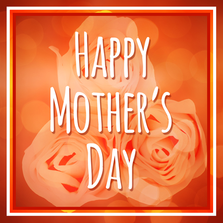 ambience: Happy mothers day message on flower background