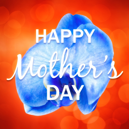 ambiance: Happy mothers day message on flower background