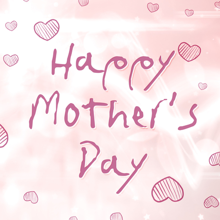 pale background: Happy mothers day message on pale background
