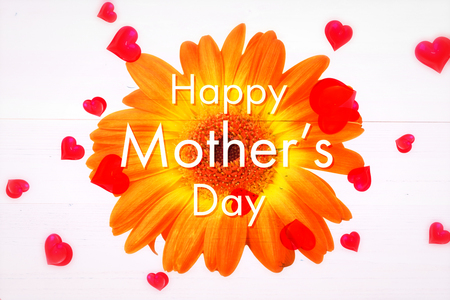 bleached: Happy mothers day message on flower background