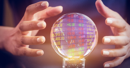 clairvoyance: Stocks and shares against a clairvoyance woman Stock Photo