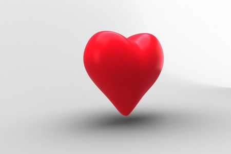 generated: Digitally generated Red heart Stock Photo