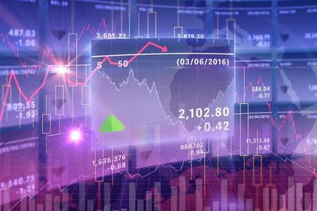 stocks and shares: Stocks and shares graph Stock Photo