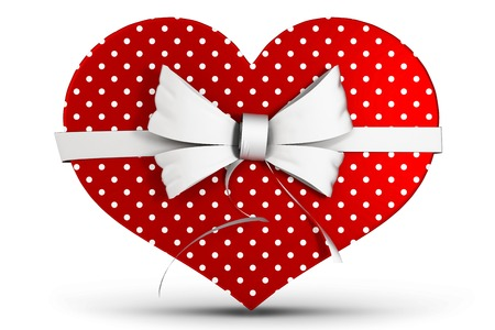 heart shaped box: Heart shaped box of candy on white background