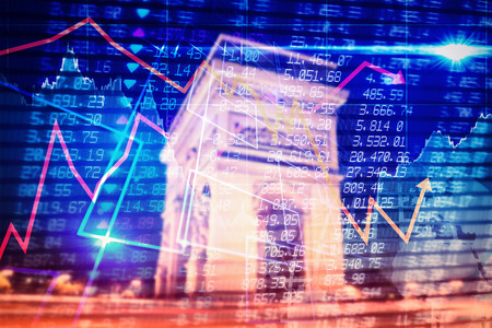 triumphe: Stocks and shares against arc de triumphe in france