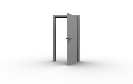 side effect: Illustration of an open door against white background