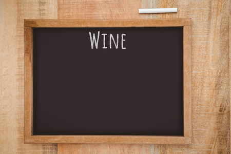 hight tech: Wine message against composite image of a slate