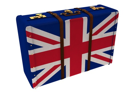 great britain flag: Great Britain flag suitcase Stock Photo