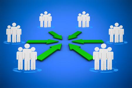digitally  generated: Digital diagram of business  against blue background digitally generated blue design background