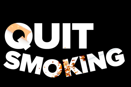 quit smoking: Quit smoking message on a black background