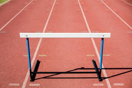 hurdle: Close-up of a hurdle on running track