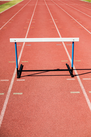 athleticism: Close-up of a hurdle on running track