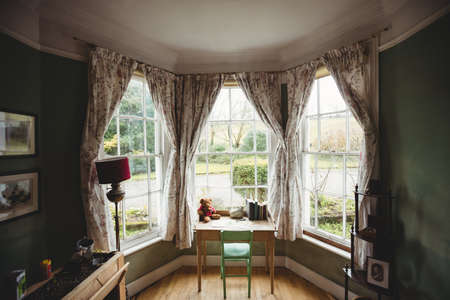 abode: Front of an empty room in country house