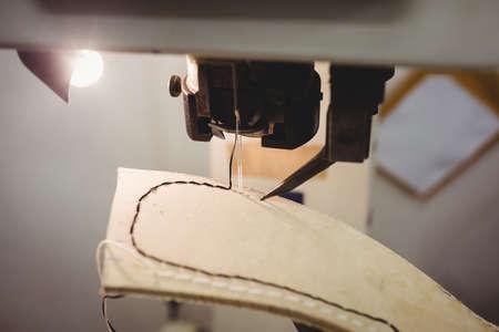brogue: Close up of sewing machine in a workshop