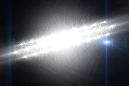 digitally generated image: Digitally generated image of Spotlights against black background Stock Photo