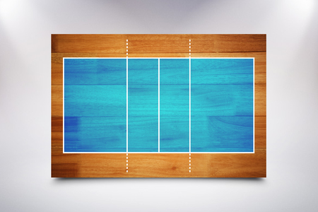 sports field: Drawing of sports field against wooden flooring