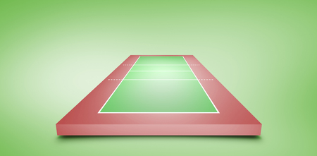 vignette: Drawing of sports field against green vignette Stock Photo