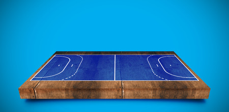 sports field: Drawing of sports field against blue background with vignette
