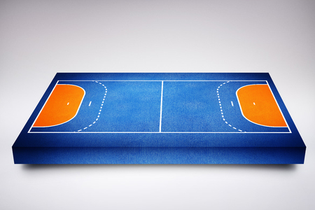 sports field: Drawing of sports field against blue background