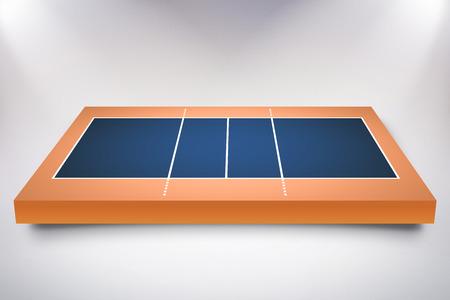 sports field: Drawing of sports field against orange background
