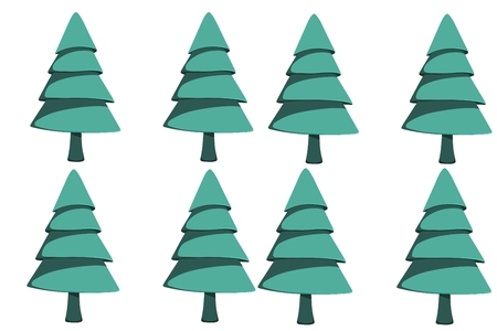 composite image: Composite image of digital fir tree on a white background