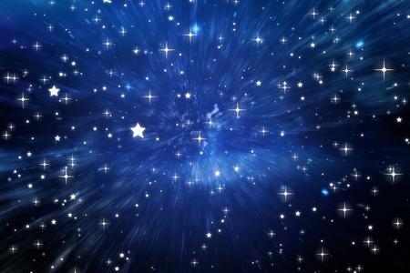 Samengestelde afbeelding van een sterrenhemel
