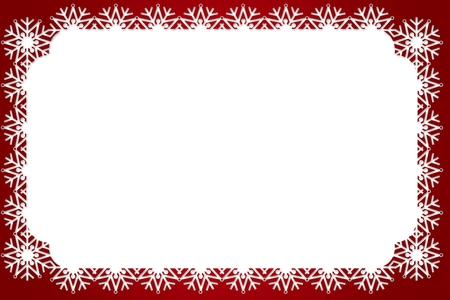 composite image: Composite image of a Christmas frame against a white background Stock Photo