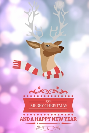 composite image: Composite image of Christmas message against a blurred background Stock Photo