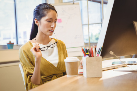 well dressed woman: Business woman posing at work
